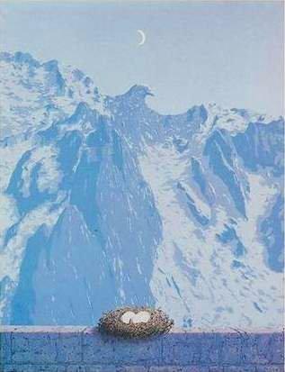 variação sobre o Domínio de Arnheim de Magritte (1938)