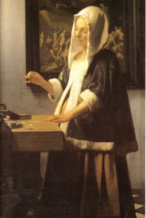 A Pesagem das Pérolas - Vermeer