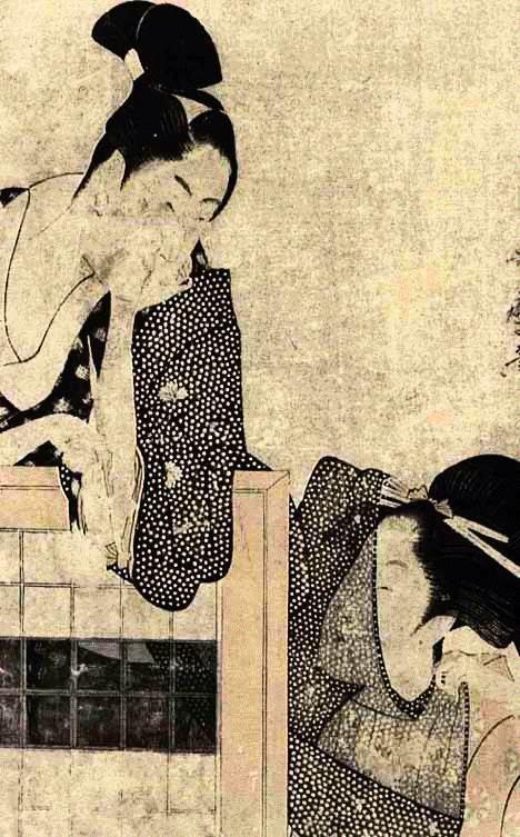 Os Amantes - Utamaro